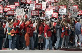 Writer S Chair Writers Guild Of America Members Authorize Strike As Contract