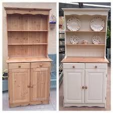 grey welsh dresser vintage shabby chic solid pine delivery