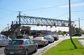 traffic light mt clemens pedestrian bridge over groesbeck in fraser to stay