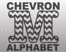 chevron alphabet chevron pattern cut file dxf u0026 svg files