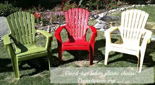 good bye white plastic chairs