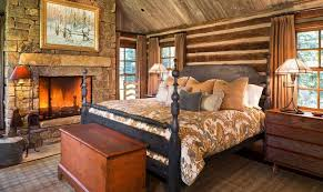 Rustic Chic Bedroom - rustic chic bedroom light brown solid wood bed design white low