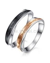 matching rings custom engraved promise wedding commitment engagement couples