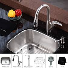 Automatic Kitchen Faucets by Stainless Steel Kitchen Sink Combination Kraususa Com