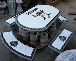 raiders furniture great for bbq weather my oakland raiders