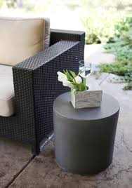 round stool side table