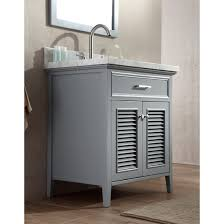 Discount Bathroom Cabinets Ace 31 Inch Cottage Single Sink Bathroom Vanity Set In Grey Finish