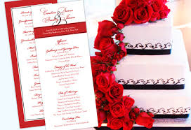 personalized wedding programs color monday for weddingstruly engaging wedding