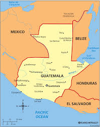 Guatemala World Map by Guatemala On The Map With Major Cities Guatemala Pinterest