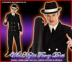 fancy dress costume 1920 s gents gangster lg