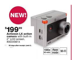 action camera black friday activeon lx action camcorder deal at sears black friday is 199 99