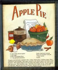 Country Apple Decorations For Kitchen - apple pie recipe plaque retro primitive country kitchen decor sign