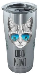tervis tumbler check meowt stainless tumbler with clear lid bass