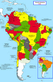 Map Of Mexico And South America by Latin American Wars Of Independence Wikipedia