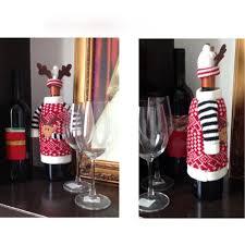 elk wine bottle cover bag dinner table decoration