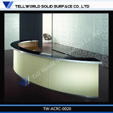 Rounded Reception Desk by Tw Simple Design Custom Made Acrylic Solid Surface Curved