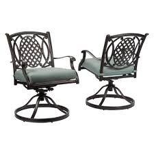 Metal Outdoor Dining Chairs Hampton Bay Belcourt Swivel Rocking Metal Outdoor Dining Chair