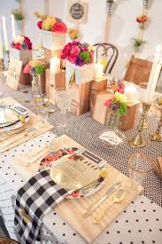 table setting runner and placemats the cream event nyc part iii wedding tables color patterns and