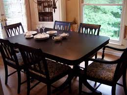 Distressed Black Dining Table Duncan Phyfe Dining Table Painted Black Lacquer Decor