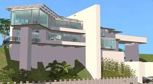 nice modern hillside home plans 7