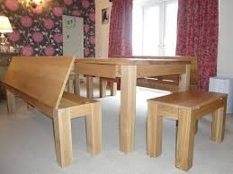 Farm Tables With Benches Long Dining Table With Bench Fashionable Dining Table With Bench