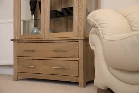 Living Room Furniture Cabinets by Eton Solid Oak Living Room Furniture Glazed Display Cabinet