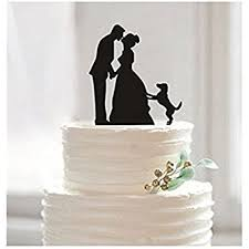 unique cake topper cake toppers and groom with 3 dogs wedding cake