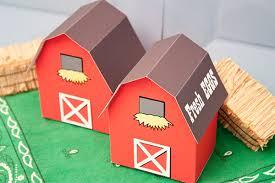 piggy bank party favors barn favor box diy printable piggy bank