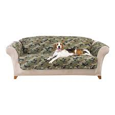 Couch And Loveseat Covers Amazon Com Sure Fit Camouflage Pet Sofa Slipcover Green
