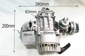 complete 2 stroke 49 cc single cylinder engine for minimoto mini