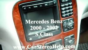 how to mercedes benz s class bose stereo removal 2000 2002