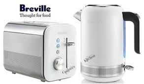 White Kettles And Toasters Breville High Gloss Kettle And Toaster Set White Kettle U0026 2 Slice