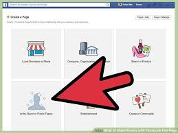 create facebook fan page how to make money with facebook fan page 3 steps with pictures