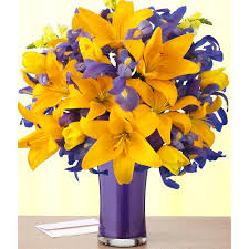 Vase With Irises 25th Anniversary Flower And Meaning Anniversary Gifts By Year