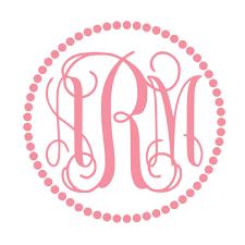 monogram stickers vines dot trim monogram vinyl sticker gracie mae gifts
