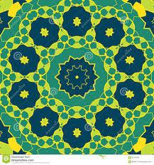 stylized mandala green colour round ornamental pattern geometric