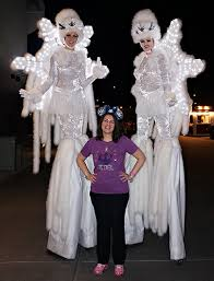 Snowflake Halloween Costume Love Characters Disney Springs Holiday Stilt Walkers