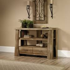 Sauder 5 Shelf Bookcase by Sauder Boone Mountain Anywhere Console Table Tv Stand Hayneedle