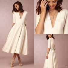 tea length wedding dresses discount tea length wedding dresses sleeve wedding dress