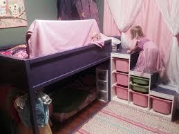 my daughters bedroom ikea hack with kura bed and trofast shelves