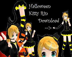 Halloween Kitty by Mmd Newcomer Halloween Rin Dl By Kerochichan On Deviantart