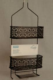 taymor lace shower caddy rubbed in bronze pacificpillows