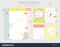 template for daily planner cute calendar daily planner template beautiful stock vector cute calendar daily planner template beautiful diary with funny kids illustrations spring holidays background