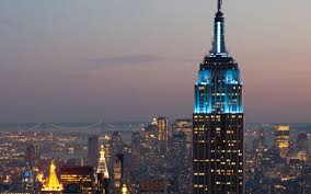 Empire State Building Halloween Light Show Light It Up Blue U0027 For Autism Awareness