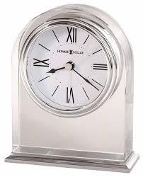 howard miller optica 645 757 crystal arched desk alarm clock