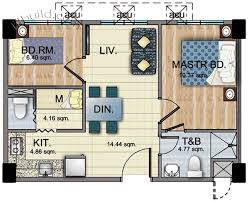 2 Bedroom Condo Floor Plan Condo Sale At Woodsville Viverde Mansions In Parañaque City By