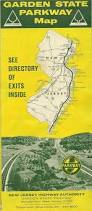 Toll Roads In Florida Map by Official 1964 Road Map Garden State Parkway New Jersey Exit