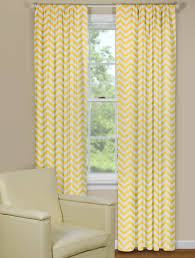 Yellow White Chevron Curtains Yellow Window Curtains Chevron Style Print