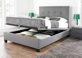 kaydian walkworth ottoman storage bed smoke fabric storage