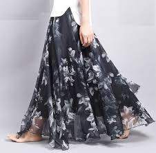 skirt labuh bohemian printed floral maxi skirt l end 6 7 2018 10 13 pm